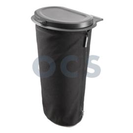 Flextrash deksel en tas L 9ltr zwart