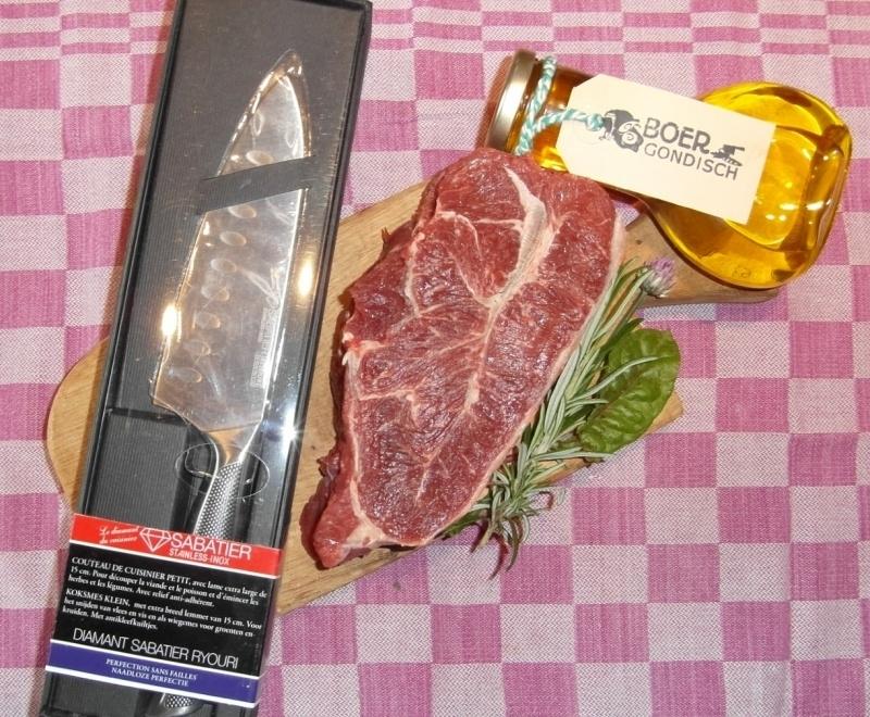 Sucade - 350 gram - vleesplank - olie - vleesmes