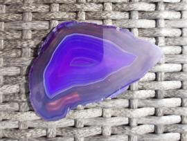 Agaat - schijf - paars - 10,2 cm