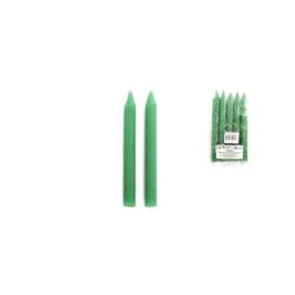 Ritueel kaars - Groen - 15 x 1,5 cm - 5 stuks