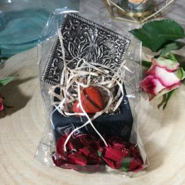Cadeauset - Rode Jaspis Hart