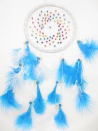 Dromenvanger wit - blauw - 20 cm