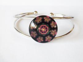 Armband - Cabochon - bloemen