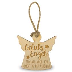 Houten engeltje - Geluksengel - 6 cm