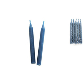 Ritueel kaars - donkerblauw - 15 x 1,5 cm - 5 stuks