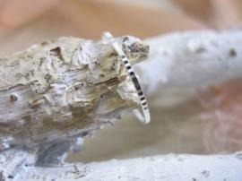 Ring - Patterned - 925 Sterling Zilver - Maat 6
