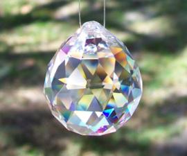 Raamhanger Regenboogkristal bol - Parelmoer - AAA kwaliteit K9 - 4cm