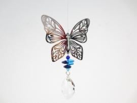 Raamhanger -Cosmo Spinner Vlinder - met regenboog glaskristal