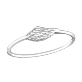 Ring - Vleugel - Maat 6 - 925 Sterling Zilver