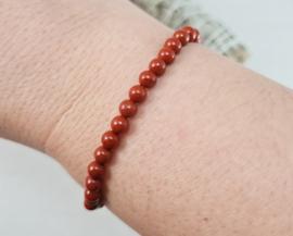 Armband - Rode Jaspis - 4mm