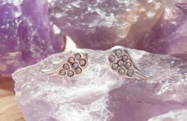 Oorbellen - Vleugels - Zilver - Zirconia