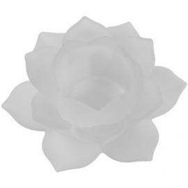 Sfeerlicht - Lotus - glas - Wit