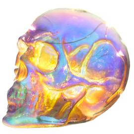 Schedel - Schitter Regenboog LED Schedel - Skull & Bones - 11 cm