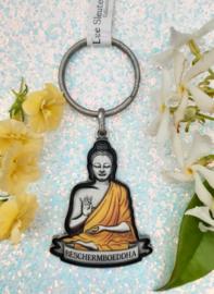 Luxe Sleutelhanger - Bescherm Boeddha - 3D - 5,5 cm