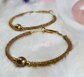 Oorbellen - rond - goud