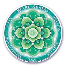 Raamsticker - 4e chakra - groen - 10,5 cm