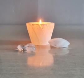 Sfeerlicht - Seleniet - Devine Lotus - 280 gram