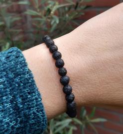 Armband - Lavasteen - 0.6cm