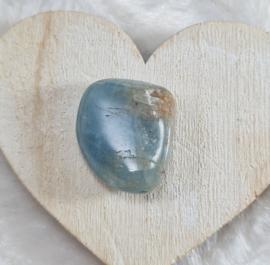 Aquamarijn - trommelsteen - no.11 - 2,6 cm