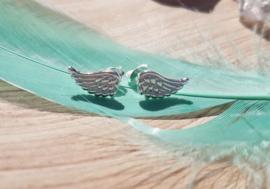 Oorbellen - Vleugeltjes - Zilver