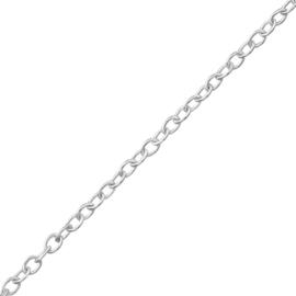Ketting - Rolo schakelketting - Zilver - 40 cm