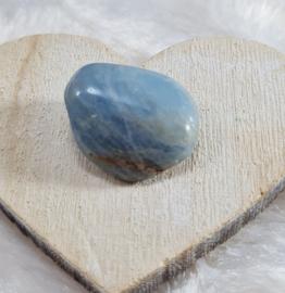 Aquamarijn - trommelsteen - no.6 - 2,4 cm