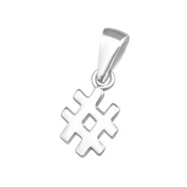 Hanger - Hashtag - 925 Sterling Zilver