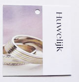 Klein kaartje - Huwelijk - 7 cm
