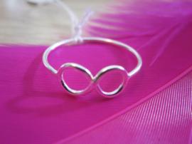Ring - oneindigheid - infinity - 925 Sterling Zilver - maat 8