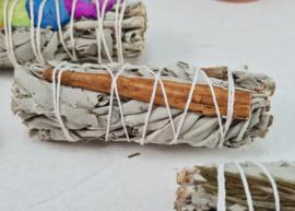 Witte Salie met Kaneel - Smudge Stick - 10cm