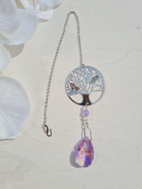 Raamhanger - kristal - levensboom - druppel - violet