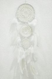 Dromenvanger - gehaakt - 15 cm - wit/creme