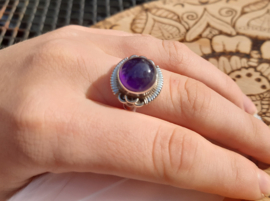 Ring - Amethist - Rond - 925 Sterling Zilver