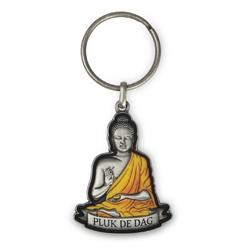 Luxe Sleutelhanger - Pluk de dag - Boeddha - 3D - 5,5 cm
