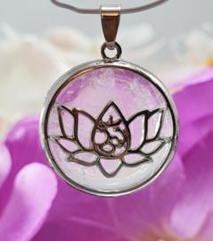 Hanger - Bergkristal - Lotus - 3cm