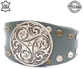 Armband - Leder - Beauty - grijs