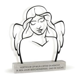 Beschermengel - Metal Art Deco - 23 cm