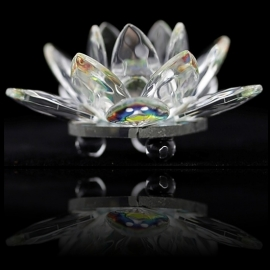 Kristallen - lotusbloem - gekleurde kern - 5 cm