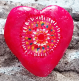 Happy Stone - Love red heart