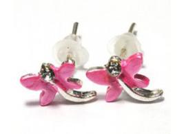 Oorbellen - Libelle - 1 cm - roze kleur