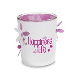 Stralend Lichtje - Boeddha Happiness is a way of life