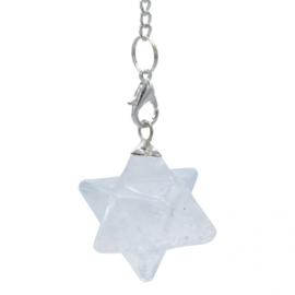 Pendel Merkaba Bergkristal 3 cm