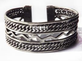 Armband - metaal - old look - Wave
