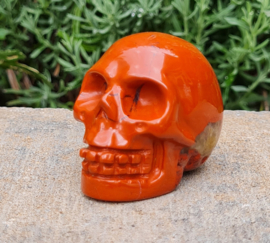 Rode Jaspis - Schedel / Skull - China - No.07
