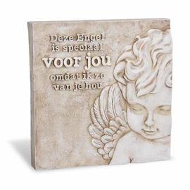 Decoratie tegel - Engel voor jou - Home & Garden - 16,5 cm