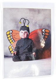 Postkaart met envelop - Vlinder - Baby - 10,5 x 15 cm