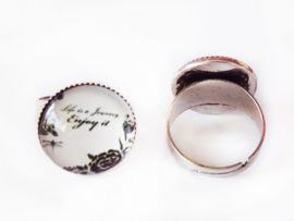 Ring - Life is a journey - cabochon