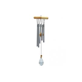 Windgong - hoekig - met kristal - 5 staven