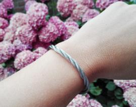 Armband - Ibiza - zilver rond gevlochten
