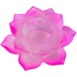 Sfeerlicht - Lotus - glas - Roze
